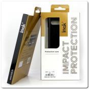 IMAK Ruiy PU Кожаный Чехол из Ударопрочного Пластика для Samsung Galaxy A70 - Черный