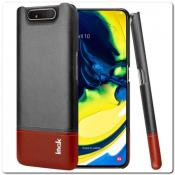 Купить IMAK Ruiy PU Кожаный Чехол из Ударопрочного Пластика для Samsung Galaxy A80 - Черный на Apple-Land.ru