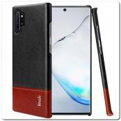 Купить IMAK Ruiy PU Кожаный Чехол из Ударопрочного Пластика для Samsung Galaxy Note 10+ / Note 10 Plus - Черный на Apple-Land.ru