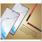 IMAK Ruiy PU Кожаный Чехол из Ударопрочного Пластика для Samsung Galaxy Note 10+ / Note 10 Plus - Черный