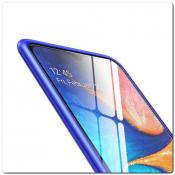 Магнитный Металлический Бампер Чехол для Samsung Galaxy A30 / Galaxy A20 Стеклянная Задняя Панель Синий