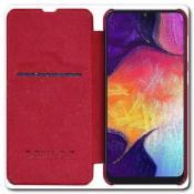 Купить Nillkin Qin Искусственно Кожаная Чехол Книжка для Samsung Galaxy A50 Красный на Apple-Land.ru