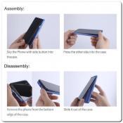 Пластиковый Кейс Nillkin Super Frosted Shield Чехол для Samsung Galaxy A50 Золотой