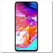 Купить Пластиковый Кейс Nillkin Super Frosted Shield Чехол для Samsung Galaxy A70 Белый на Apple-Land.ru