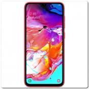 Купить Пластиковый Кейс Nillkin Super Frosted Shield Чехол для Samsung Galaxy A70 Красный на Apple-Land.ru
