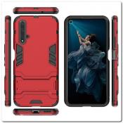 Купить Противоударный Пластиковый Двухслойный Защитный Чехол для Huawei Honor 20 с Подставкой Красный на Apple-Land.ru
