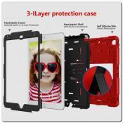Купить Противоударный Пластиковый Двухслойный Защитный Чехол для iPad mini 2019 с Подставкой Красный на Apple-Land.ru