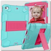 Купить Противоударный Пластиковый Двухслойный Защитный Чехол для iPad mini 2019 с Подставкой Зеленый на Apple-Land.ru