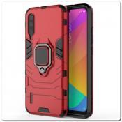 Купить Противоударный Пластиковый Двухслойный Защитный Чехол для Xiaomi Mi A3 с Подставкой Красный на Apple-Land.ru