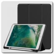 Купить PU Кожаный Чехол Книжка для iPad Air 2019 Складная Подставка Черный на Apple-Land.ru