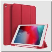 Купить PU Кожаный Чехол Книжка для iPad Air 2019 Складная Подставка Красный на Apple-Land.ru