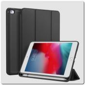 Купить PU Кожаный Чехол Книжка для iPad mini 2019 Складная Подставка Черный на Apple-Land.ru