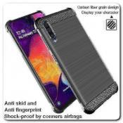 Купить Силиконовый чехол IMAK Vega с Воздушными Подушками Безопасности для Samsung Galaxy A50 Черный на Apple-Land.ru