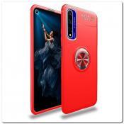 Купить Силиконовый Magnet Ring Чехол с Кольцом для Магнитного Держателя для Huawei Honor 20 Красный на Apple-Land.ru