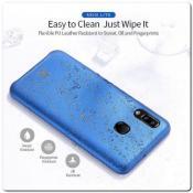 Купить Тонкий Чехол Книжка DUX DUCIS из Гладкой Искусственной Кожи для Samsung Galaxy A30 / Galaxy A20 Синий на Apple-Land.ru