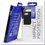 Тонкий Матовый Нескользящий Пластиковый Imak Чехол для Samsung Galaxy Note 10+ / Note 10 Plus Черный