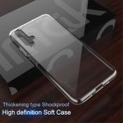 Купить Тонкий TPU Силиконовый Бампер DF Чехол на Huawei Honor 20 Прозрачный на Apple-Land.ru
