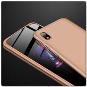Купить Тройной Съемный Пластиковый Чехол GKK 360° для Samsung Galaxy A10 Золотой на Apple-Land.ru