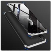 Купить Тройной Съемный Пластиковый Чехол GKK 360° для Samsung Galaxy A30 / Galaxy A20 Черный / Серебро на Apple-Land.ru
