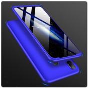 Купить Тройной Съемный Пластиковый Чехол GKK 360° для Samsung Galaxy A30 / Galaxy A20 Синий на Apple-Land.ru