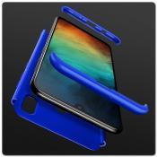 Тройной Съемный Пластиковый Чехол GKK 360° для Samsung Galaxy A30 / Galaxy A20 Синий