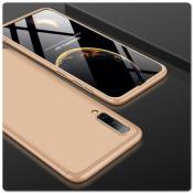 Тройной Съемный Пластиковый Чехол GKK 360° для Samsung Galaxy A50 Золотой