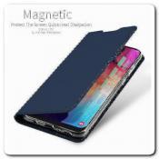 Вертикальный Чехол Книжка Флип Вниз для Samsung Galaxy A50 с карманом для карт Черный