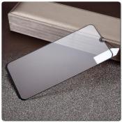 Купить Закаленное Защитное Противоударное DF Стекло для Samsung Galaxy A40 с Олеофобным Покрытием Черное на Apple-Land.ru