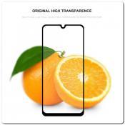 Купить Закаленное Защитное Противоударное DF Стекло для Xiaomi Mi A3 с Олеофобным Покрытием Черное на Apple-Land.ru
