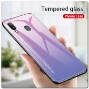 Купить Защитный Чехол Gradient Color из Стекла и Силикона для Samsung Galaxy A30 / Galaxy A20 Розовый на Apple-Land.ru