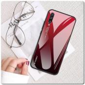 Купить Защитный Чехол Gradient Color из Стекла и Силикона для Samsung Galaxy A50 Красный на Apple-Land.ru