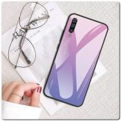 Купить Защитный Чехол Gradient Color из Стекла и Силикона для Samsung Galaxy A50 Ярко-Розовый на Apple-Land.ru