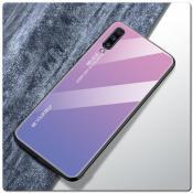 Купить Защитный Чехол Gradient Color из Стекла и Силикона для Samsung Galaxy A70 Розовый на Apple-Land.ru