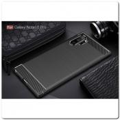 Купить Защитный Матовый Carbon Силиконовый Чехол для Samsung Galaxy Note 10+ / Note 10 Plus Красный на Apple-Land.ru
