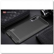 Купить Защитный Матовый Carbon Силиконовый Чехол для Xiaomi Mi A3 Черный на Apple-Land.ru