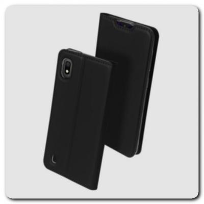 Тонкий Чехол Книжка DUX DUCIS из Гладкой Искусственной Кожи для Samsung Galaxy A10 Черный