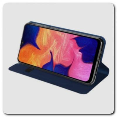 Тонкий Чехол Книжка DUX DUCIS из Гладкой Искусственной Кожи для Samsung Galaxy A10 Синий