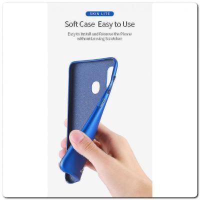 Тонкий Чехол Книжка DUX DUCIS из Гладкой Искусственной Кожи для Samsung Galaxy A30 / Galaxy A20 Черный