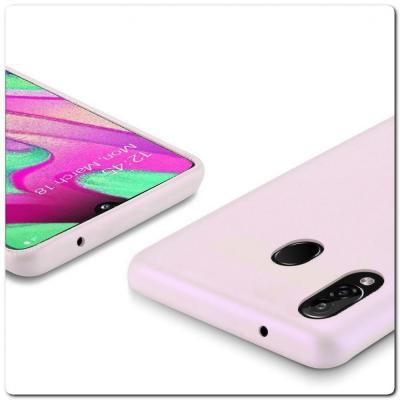Тонкий Чехол Книжка DUX DUCIS из Гладкой Искусственной Кожи для Samsung Galaxy A40 Розовый