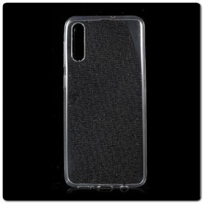 Тонкий TPU Силиконовый Бампер DF Чехол на Samsung Galaxy A50 Прозрачный