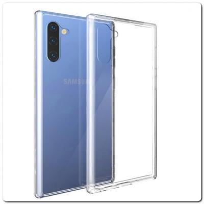 Тонкий TPU Силиконовый Бампер DF Чехол на Samsung Galaxy Note 10 Прозрачный