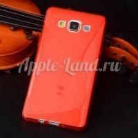 Силиконовый чехол для Samsung Galaxy A3 - красный ToughGuard