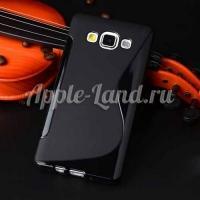 Силиконовый чехол для Samsung Galaxy A3 - чёрный ToughGuard