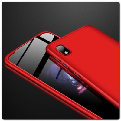 Тройной Съемный Пластиковый Чехол GKK 360° для Samsung Galaxy A10 Красный