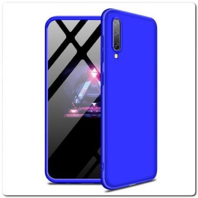 Тройной Съемный Пластиковый Чехол GKK 360° для Samsung Galaxy A50 Синий