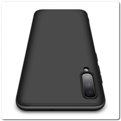 Тройной Съемный Пластиковый Чехол GKK 360° для Samsung Galaxy A70 Черный