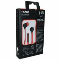 Наушники гарнитура Yookie YK170 с микрофоном красные