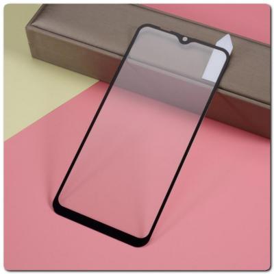 Закаленное Защитное Противоударное DF Стекло для Samsung Galaxy A10 с Олеофобным Покрытием Черное