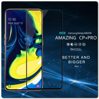Защитное Закаленное Стекло NILLKIN Amazing CP+ для Samsung Galaxy A80 с Олеофобным Покрытием Черное