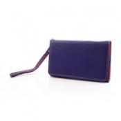 Чехол-футляр с функцией кошелька для смартфона синий цвет